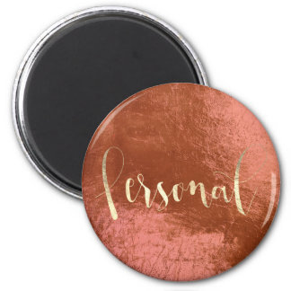 Personal Weekly Planner Pink Blush Copper Gold Magnet