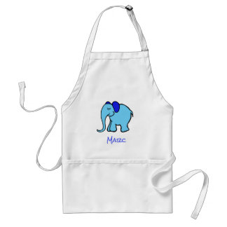 Personalisable Cute Turquoise Baby Elephant Standard Apron
