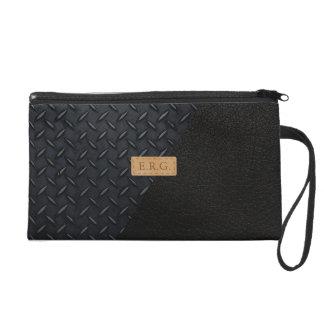 Personalise Black Glam Style Handbag Wristlet