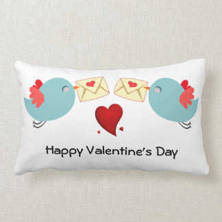 Personalise Cute Birds Valentines Gift Cushion
