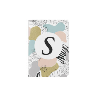 Personalised Abstract Pastel Passport Holder