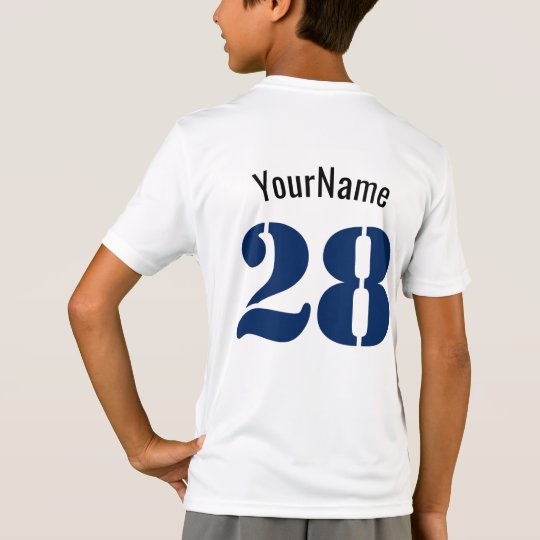 Personalised, Add Your Name and Number T-Shirt