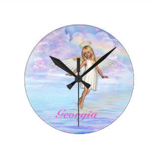 Personalised Angel Sky Wall Clock