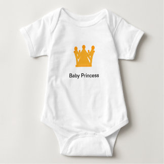 Personalised Baby Princess Vest Gold crown design Baby Bodysuit