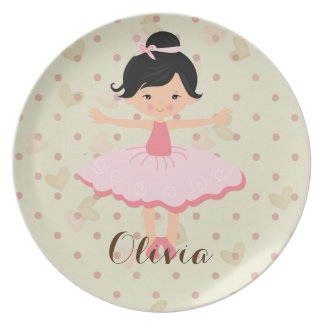Personalised Ballerina - Asian Plate