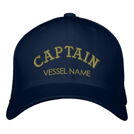 Personalised Boat Name Captain Hat Embroidered Hats