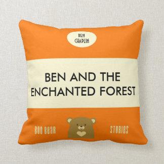 Personalised Boo Bear Stories - Pumpkin Orange Throw Pillow