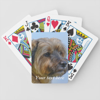Personalised Border Terrier Bicycle Playing Cards