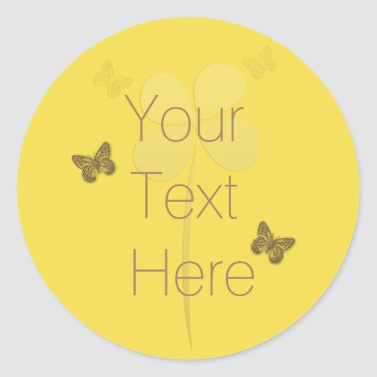 Personalised  Bright Floral Butterflies Sticker