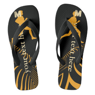 Personalised Bright Sport Jogger Flip Flops