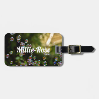 Personalised Bubbles Luggage Tag