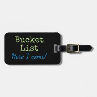 Personalised Bucket List trip luggage tag