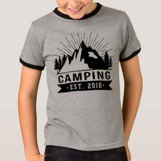 Personalised Camping T-Shirt