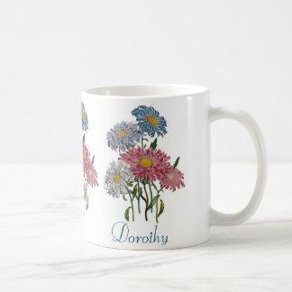 Personalised China Asters Coffee Mug