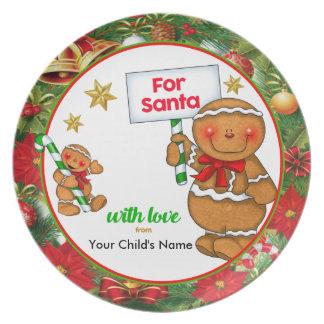 Personalised Christmas Plate for Santa Snacks