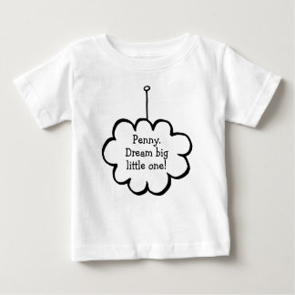 Personalised Cloud on a String Baby T-Shirt