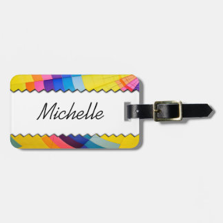 Personalised colorful luggage tag