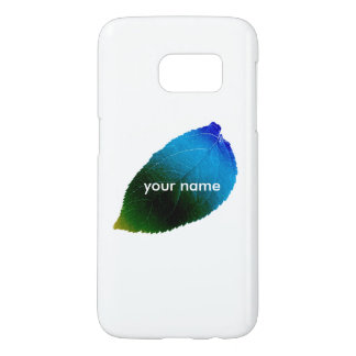 Personalised Colourful Leaf Samsung Galaxy S7 Case