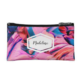 Personalised colourful paint swirl cosmetics case