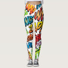PERSONALISED COMIC BOOK POP ART SOUNDS LEGGINGS