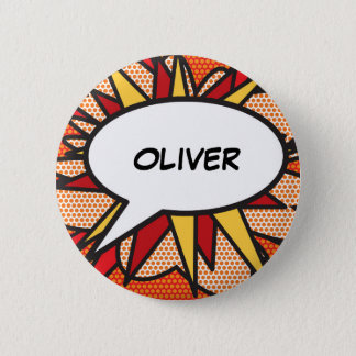 Personalised Comic Book Pop Art Speech Bubble 2 Inch Round Button