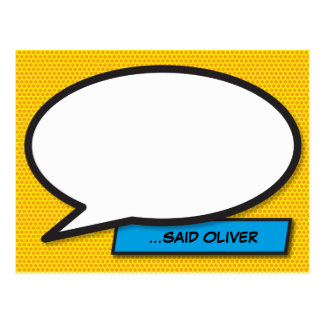 Personalised Comic Book Pop Art Speech Bubble WHAM Postcard