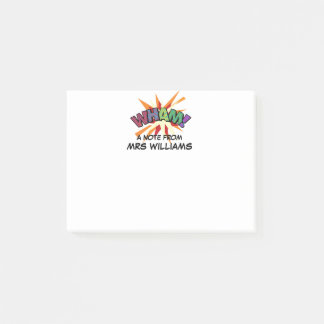 Personalised Comic Book Pop Art WHAM Post-it Notes