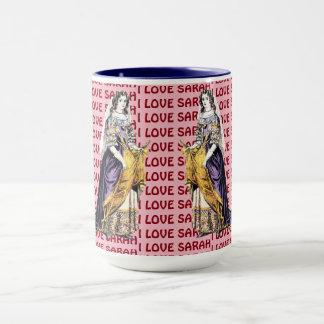 Personalised ~ COSTUMES ~ I LOVE SARAH ~ Mug