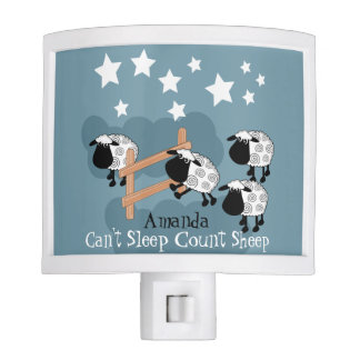 Personalised Counting sheep Night Lite