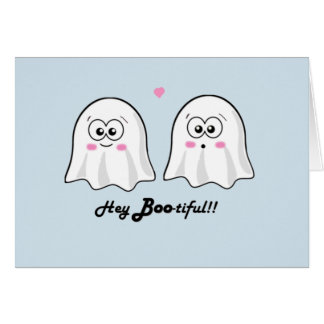 Personalised cute Halloween 'Hey Bootiful' card! Card