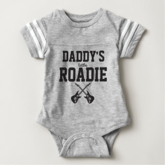 Personalised Daddy's Little Roadie Baby Bodysuit