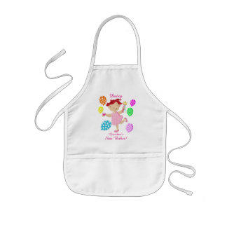 Personalised Daisy Cupcake Balloon Kids Kids Apron