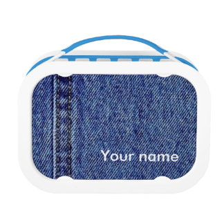 Personalised Denim Lunch Box