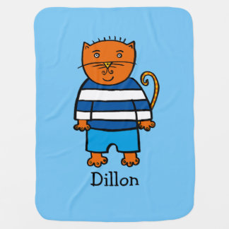 Personalised Dillon the Cat Baby Blanket