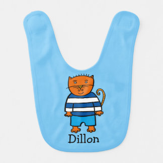 Personalised Dillon the Cat Bib