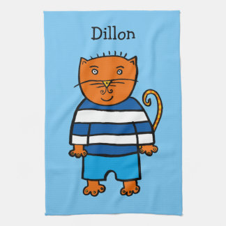 Personalised Dillon the Cat Kitchen Towel