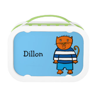Personalised Dillon the Cat Lunch Box