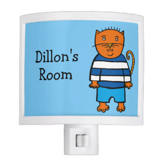 Personalised Dillon the Cat Night Lite