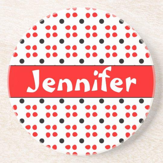 Personalised dotting pattern coaster