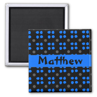 Personalised dotting pattern square magnet