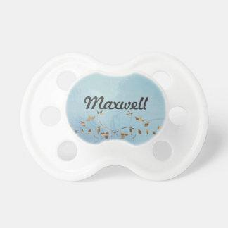 Personalised elegant blue design pacifier