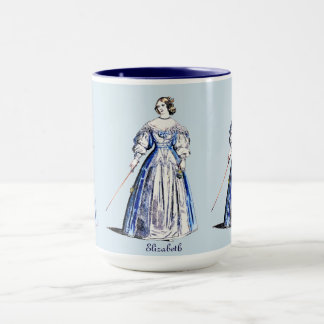 ~ Personalised ELIZABETH ~ COSTUMES ~ 1636 ~ Mug