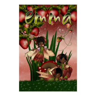 Personalised Fairy Poster African American Fey