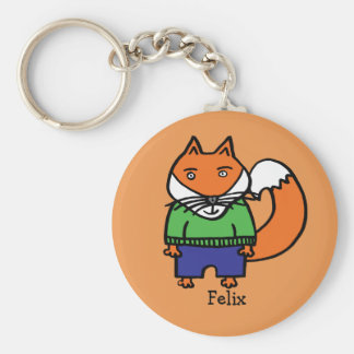 Personalised Felix the Fox Keychain