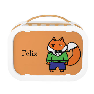 Personalised Felix the Fox Lunch Box