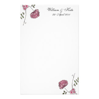 Personalised Floral wedding stationery