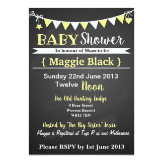Personalised Gender neutral Baby Shower invitation