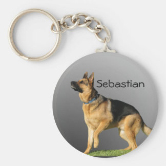 Personalised German Shepherd Keychain