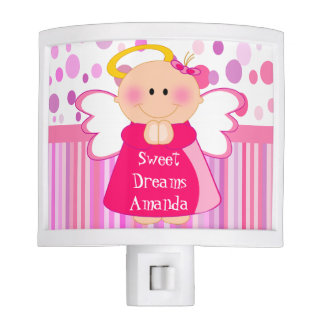 Personalised girly guardian angel night light