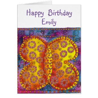 Personalised Happy Butterfly Birthday Card
